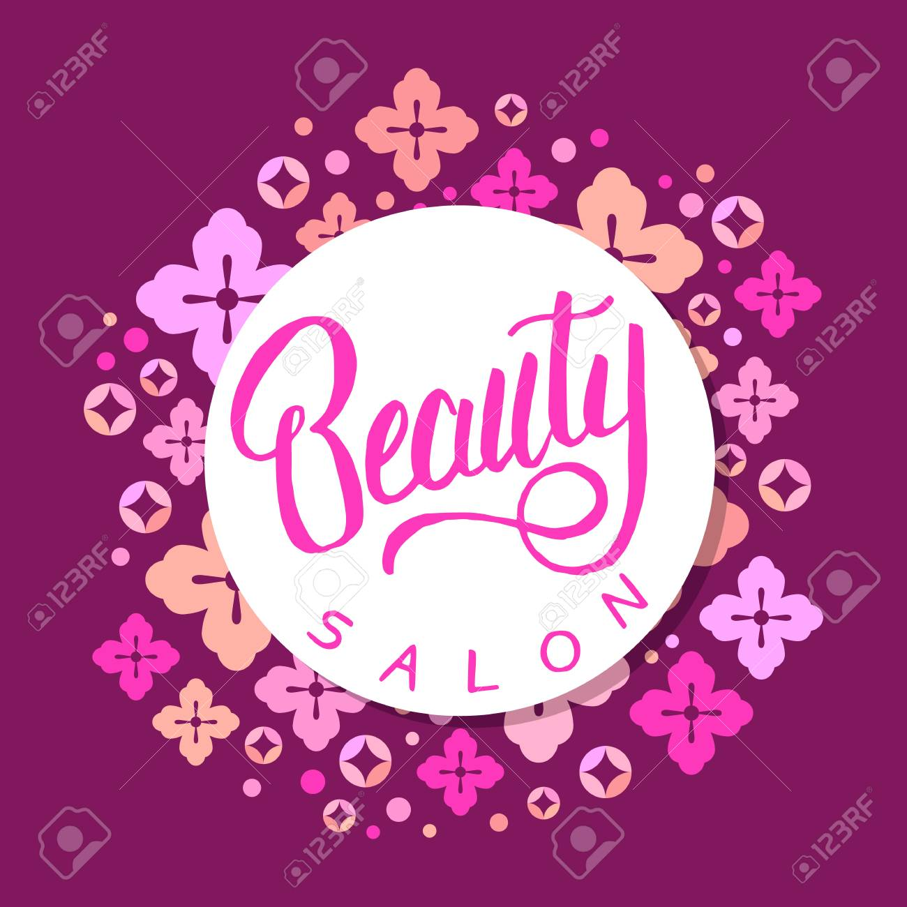 Beauty Salon Banner Hairdresser Badge Cute Background With Royalty Free Cliparts Vectors And Stock Illustration Image 100957738
