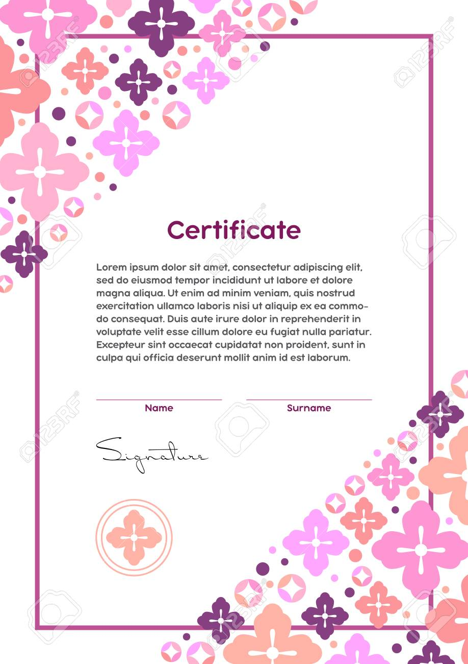 Vector certificate template japanese modern style beauty salon vector vector certificate template japanese modern style beauty salon yoga spa makeup diploma cherry flower and circles ornament yelopaper Gallery