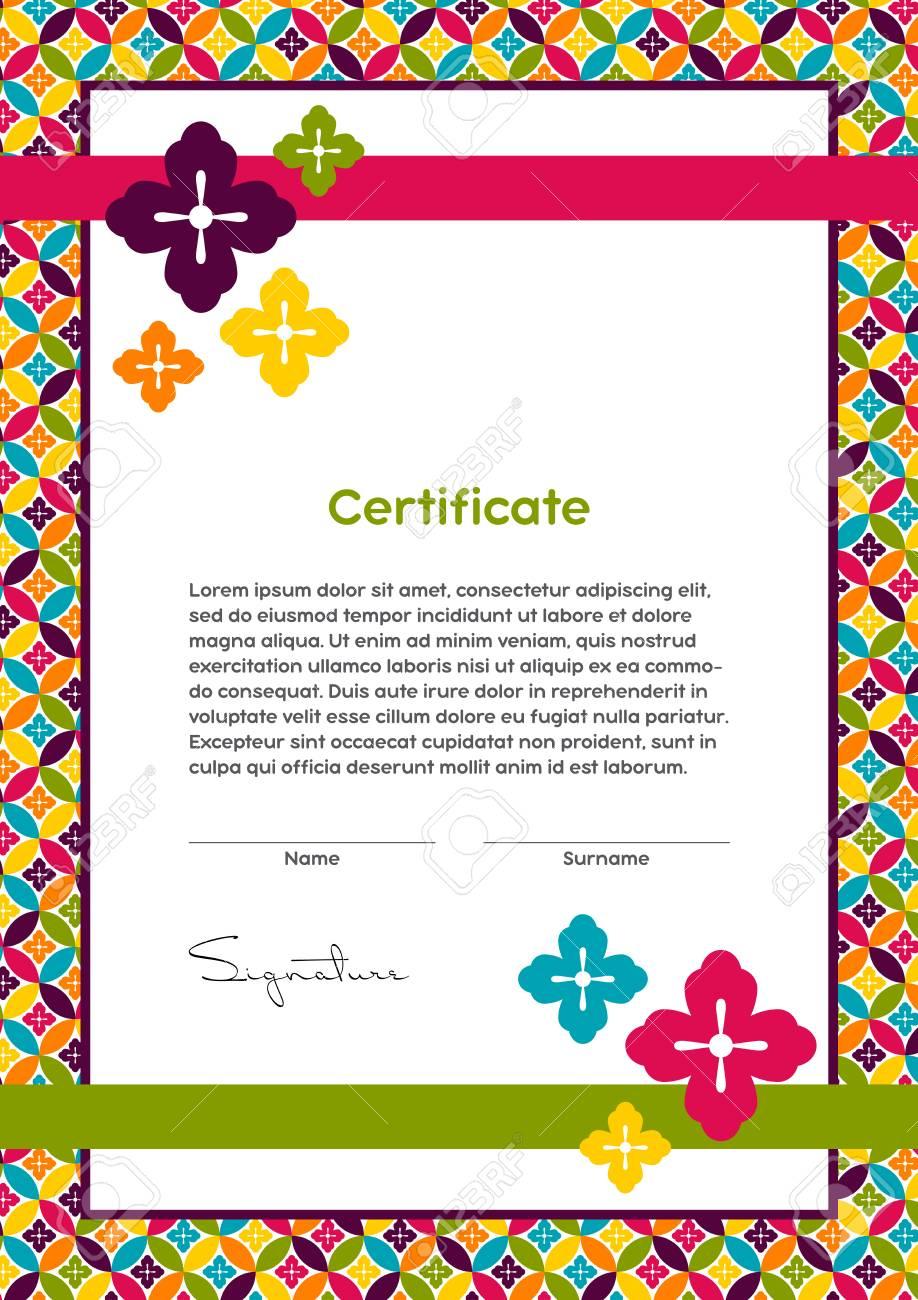 Vector Certificate Template Japanese Modern Style Beauty Salon - Makeup certificate template