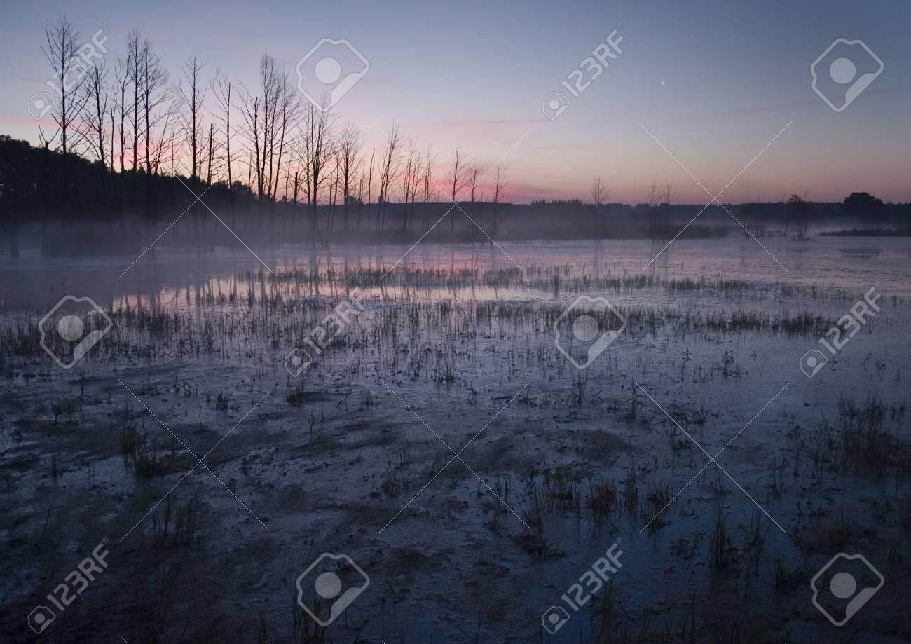Beatiful and calm sunrise. Colourful landscape. Stock Photo - 6721614