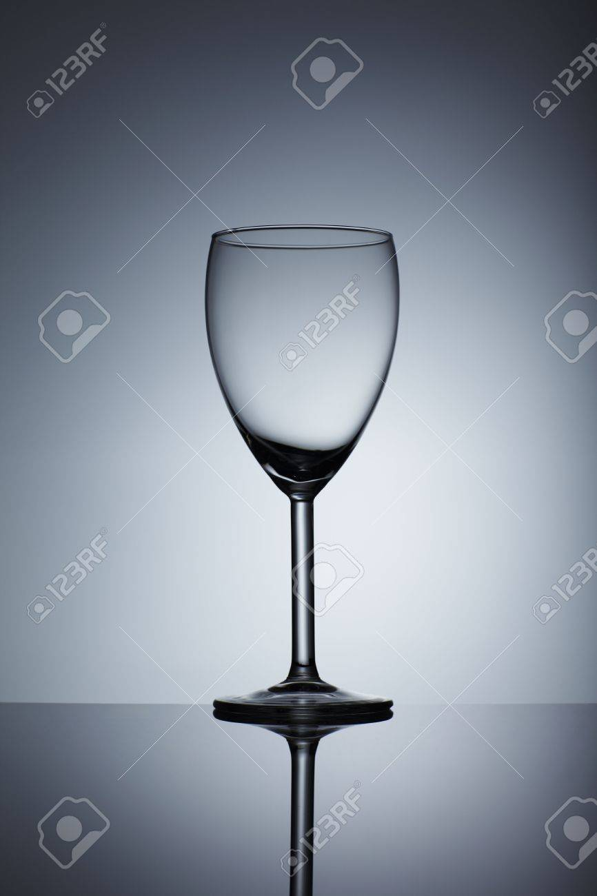 Empty wine glass isolated over background Stock Photo - 6721773