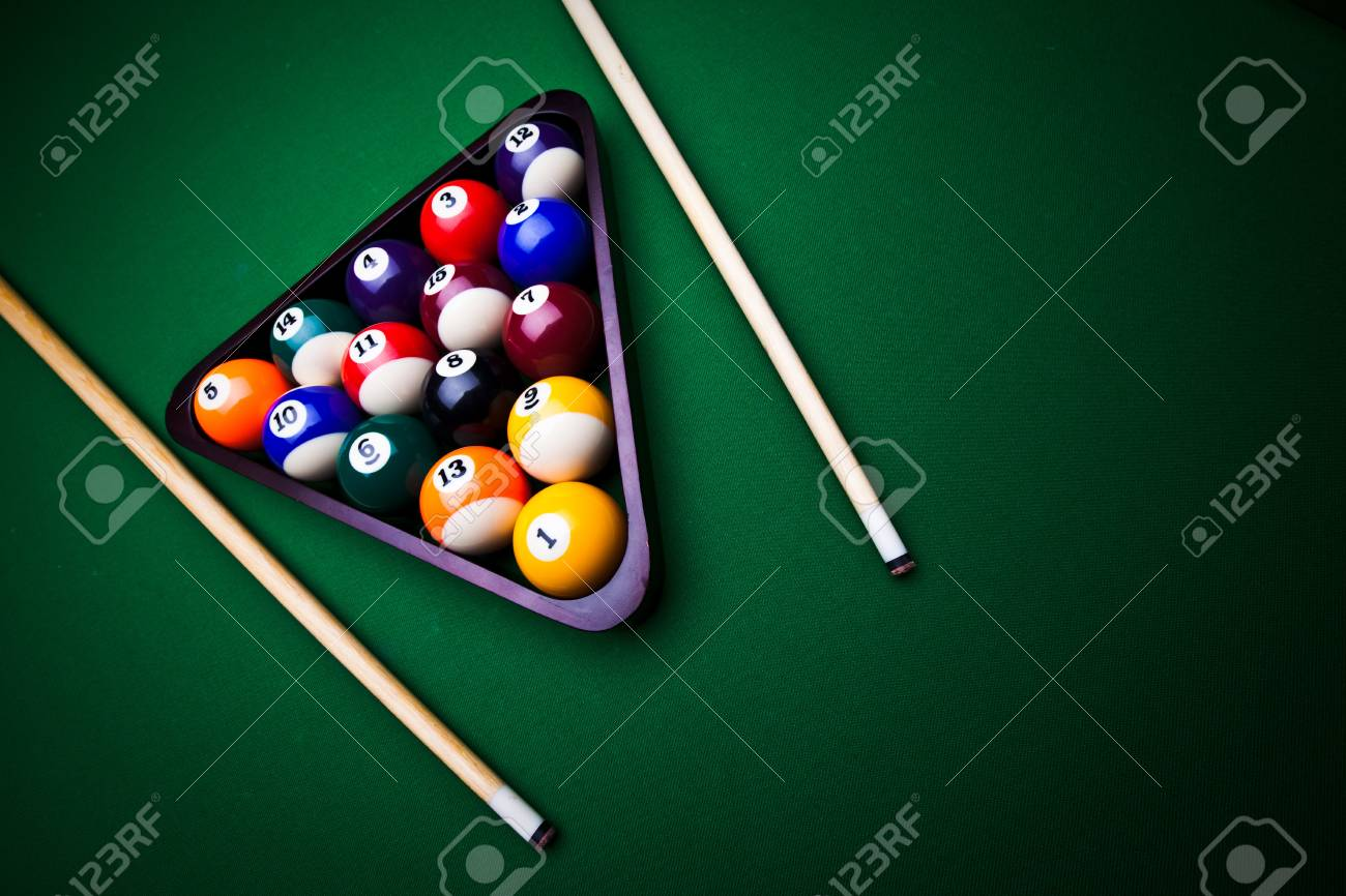 Billiard balls - pool Stock Photo - 8808227