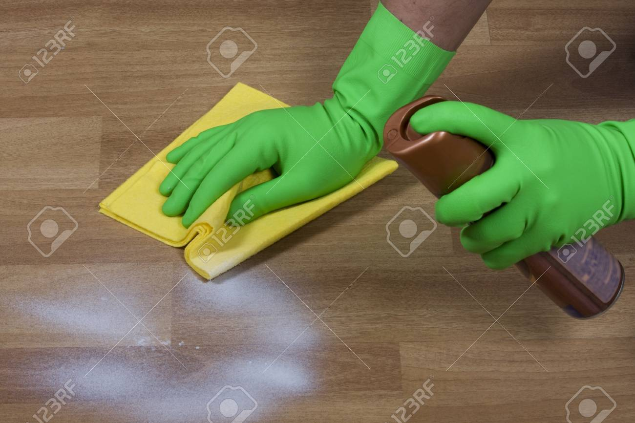 cleaning wooden parquet Stock Photo - 12535209