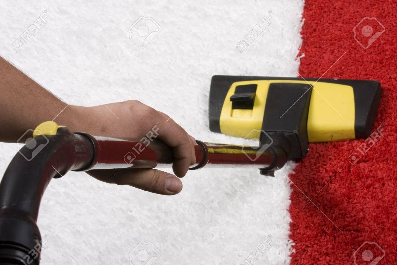 Vacuum nozzle on the carpet Stock Photo - 12535202