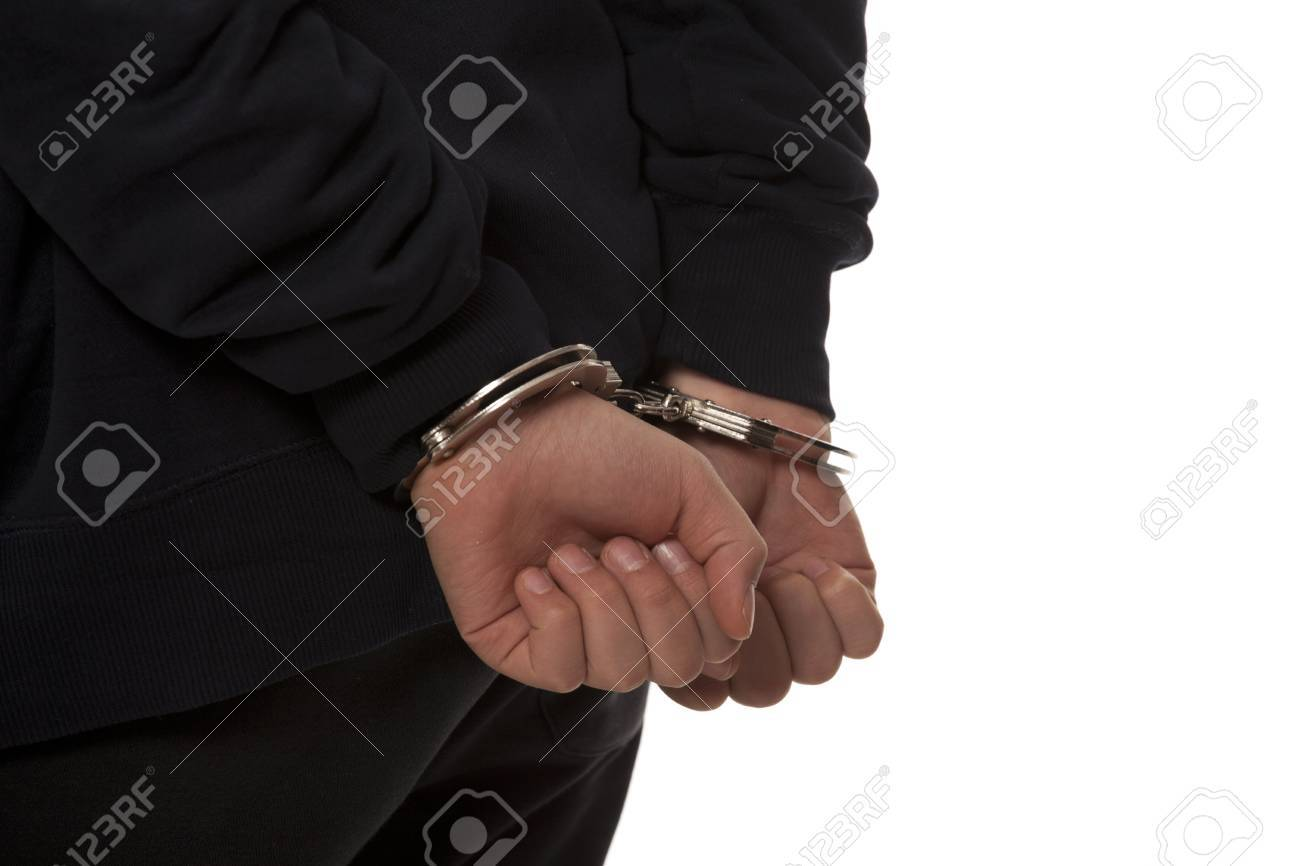 steel handcuffs Stock Photo - 13405084