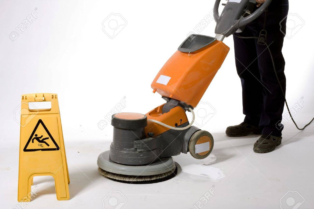 cleaning floor with machine Stock Photo - 13833185