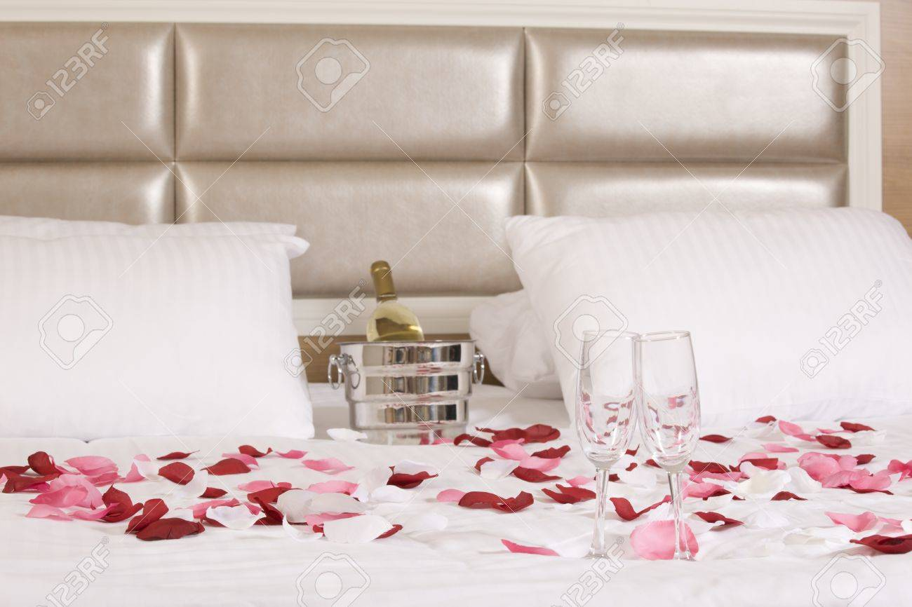 Wine In Bed To Celebrate Valentine S Day At Hotel Room Stock Photo Picture And Royalty Free Image Image 20003879