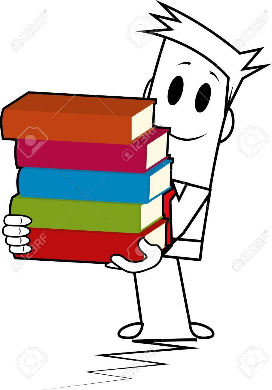 Square guy-book stack Stock Vector - 19728810