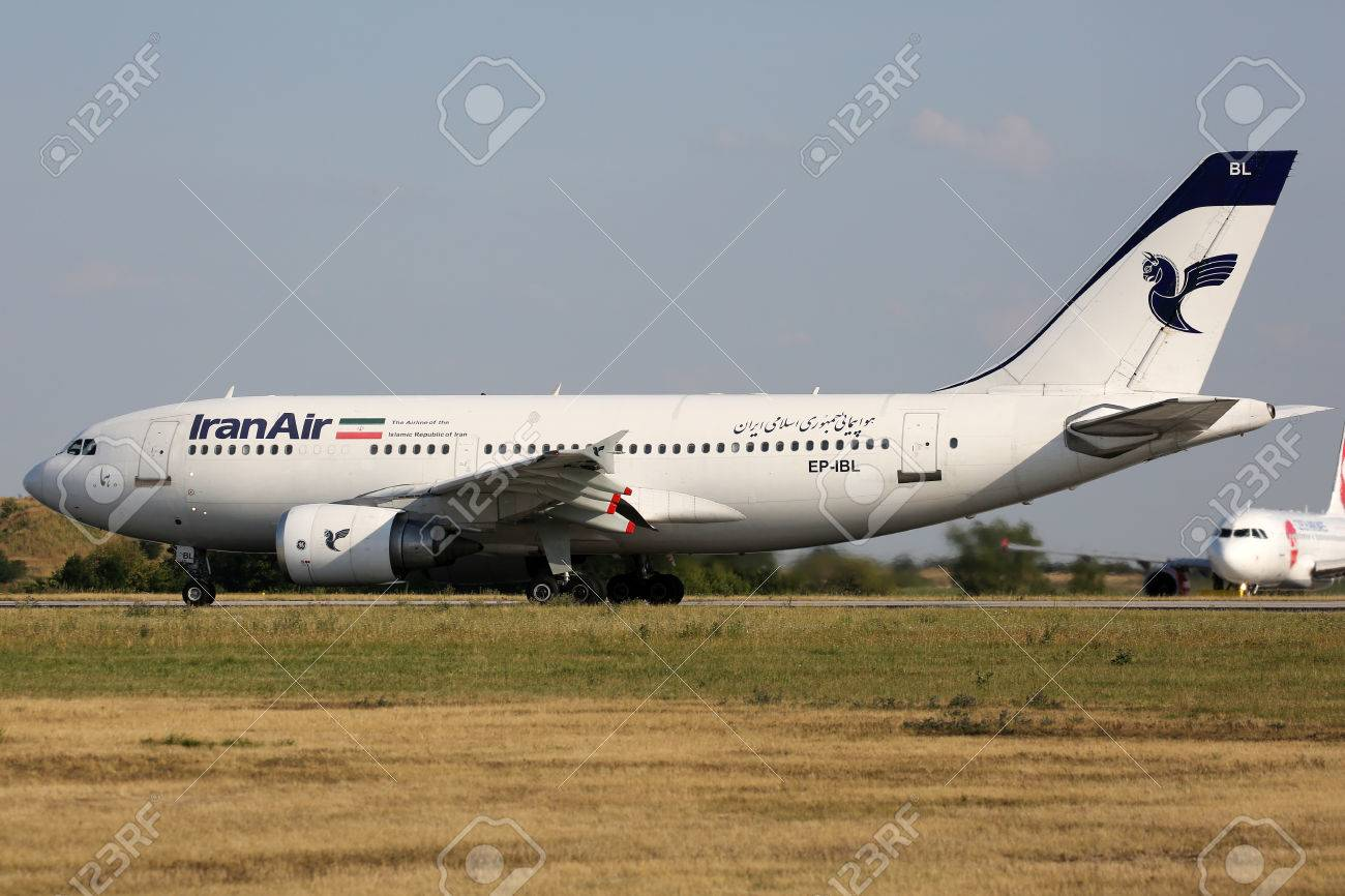 PRAGUE, CZECH REPUBLIC - JULY 31: Iran Air Airbus A310-304 lands