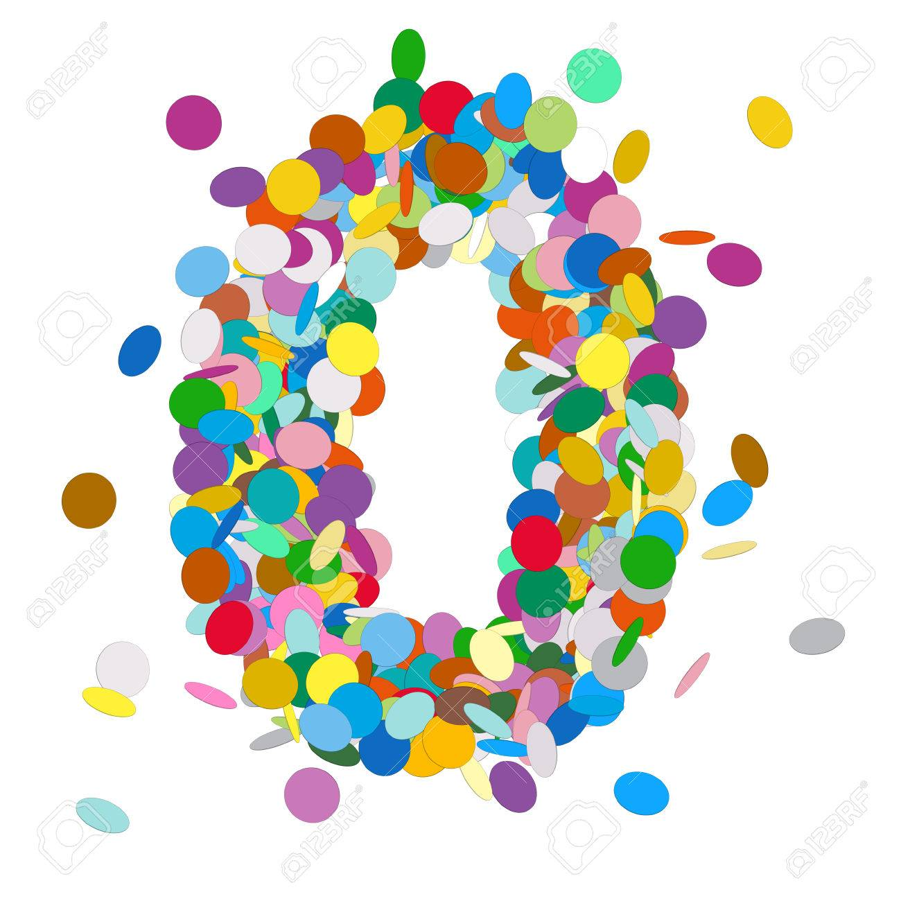 Abstract Colorful Vector Confetti Number Zero Null 0 Birthday Stock Photo Picture And Royalty Free Image Image 46391841