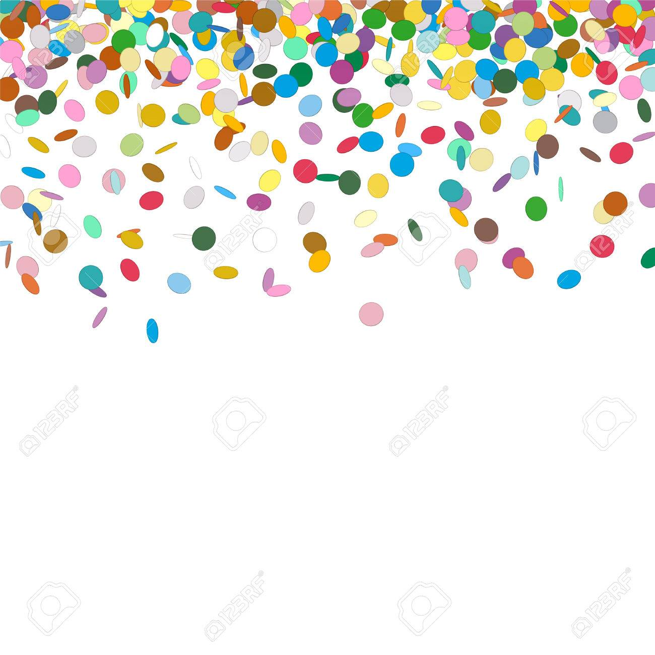 confetti background template falling chads backdrop vector stock