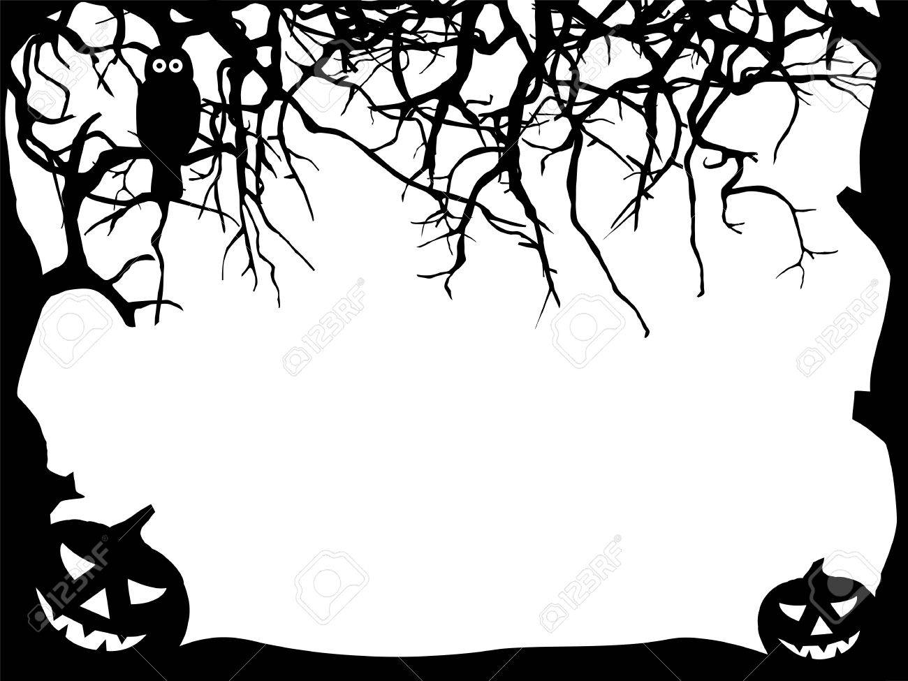 Abstract Halloween Greeting Card Template With Free Text Space ...