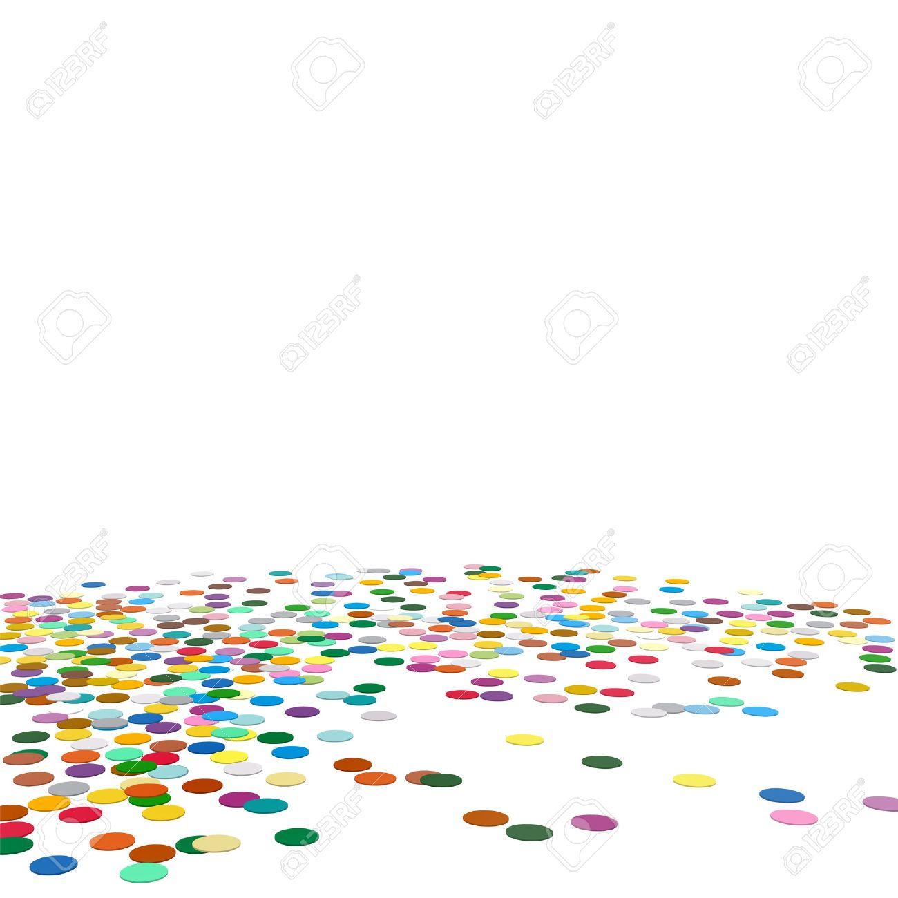 Confetti-Hintergrund-Schablone - Chads Kulisse Vector Illustration ...