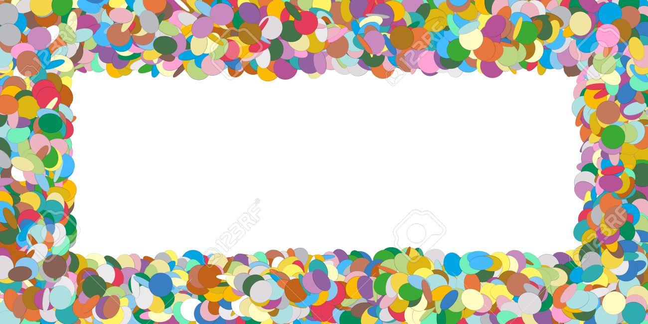 Abstrakte Bunte Horizontal Vector Confetti Panorama Frame - Wie ...