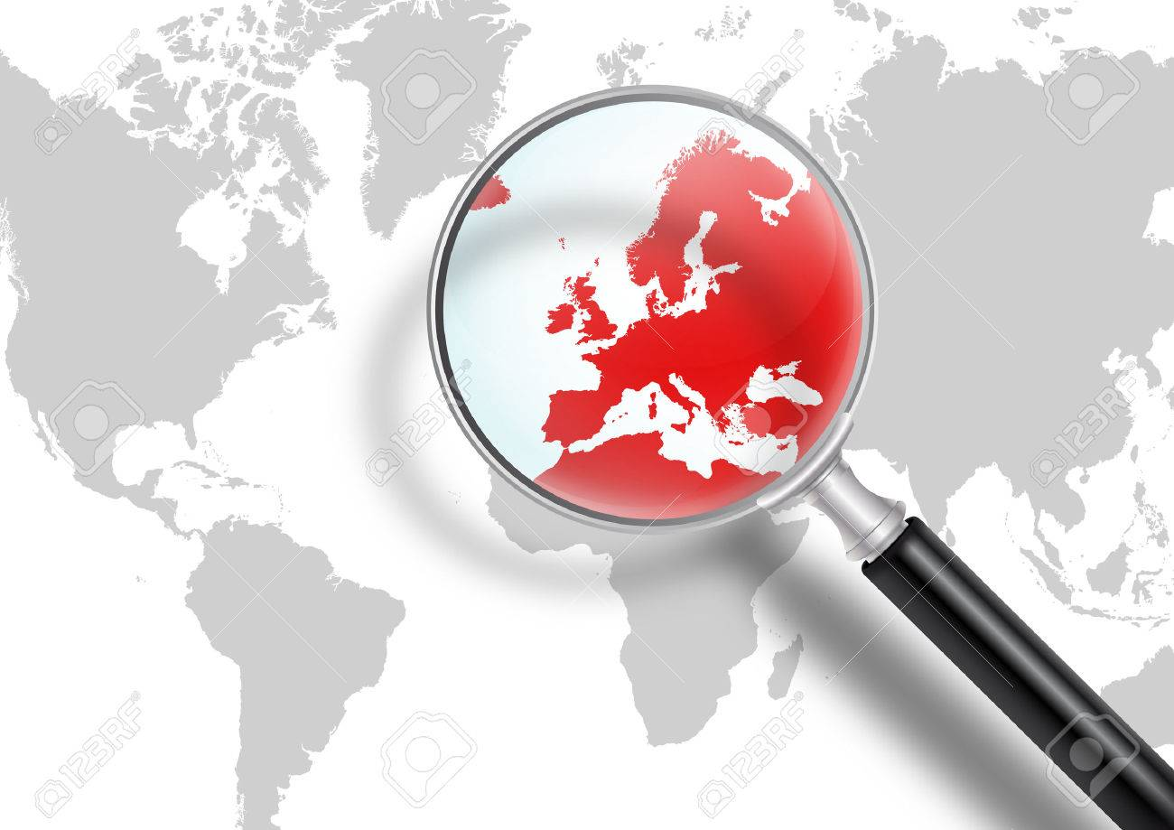 carte du monde avec europe