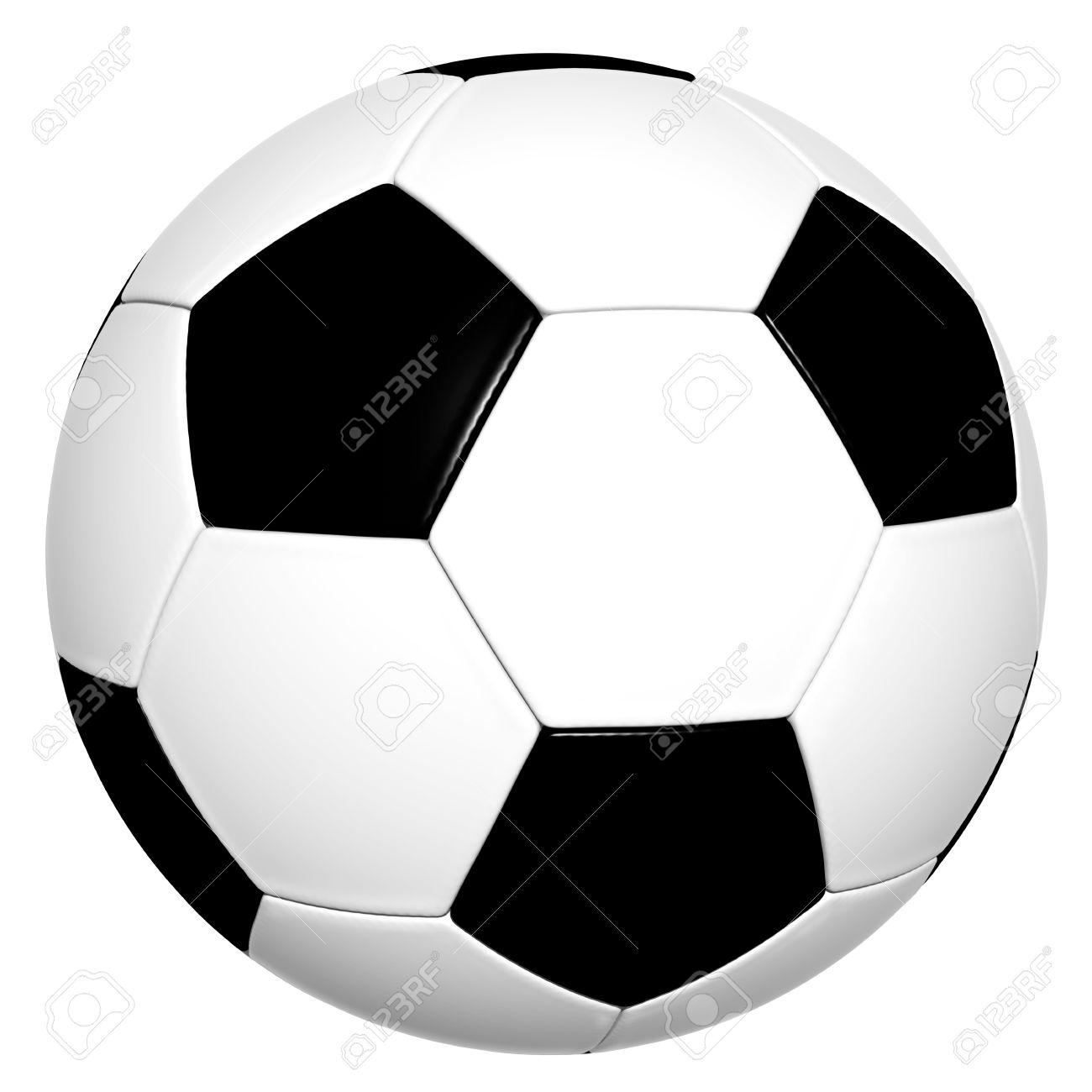 Clsica Blanco Y Negro Del Baln De Ftbol 3d Aislado Sobre Fondo Balon Sin Sombra