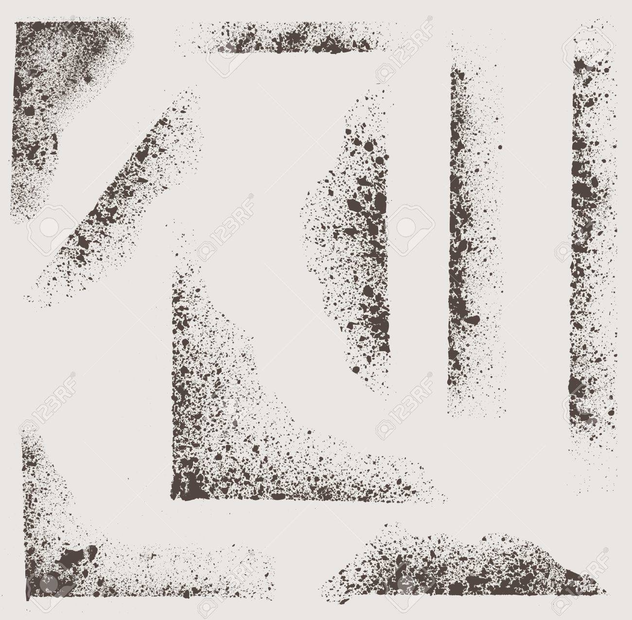 Grunge Vector Textures Brushes Royalty Free Cliparts, Vectors, And ...