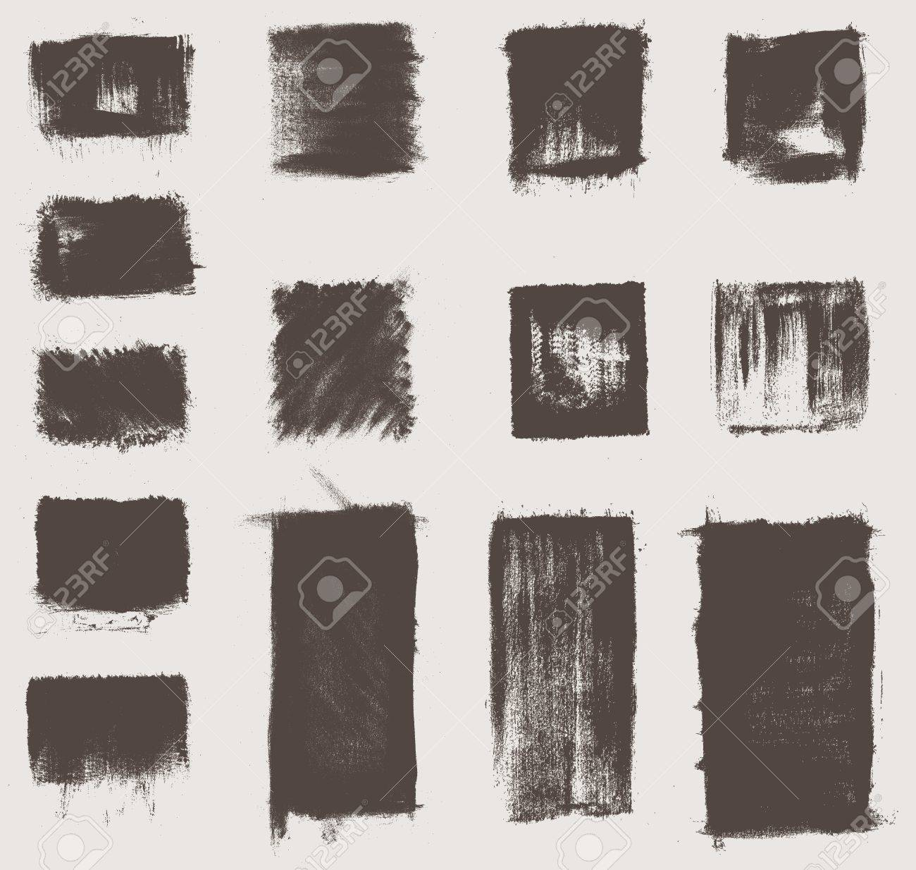 grunge vector textures brushes Stock Vector - 20110043