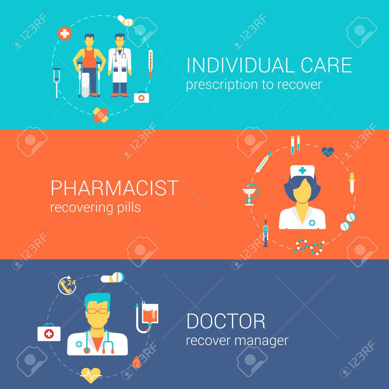 Doctor Enfermera Farmacéutico Concepto Personal De Atención Médica ...