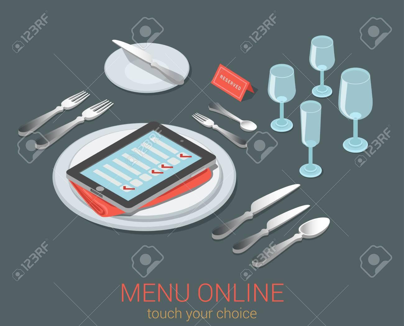 E-menú De Reserva De Pedidos En Línea De Asiento Comida Menú Del ...