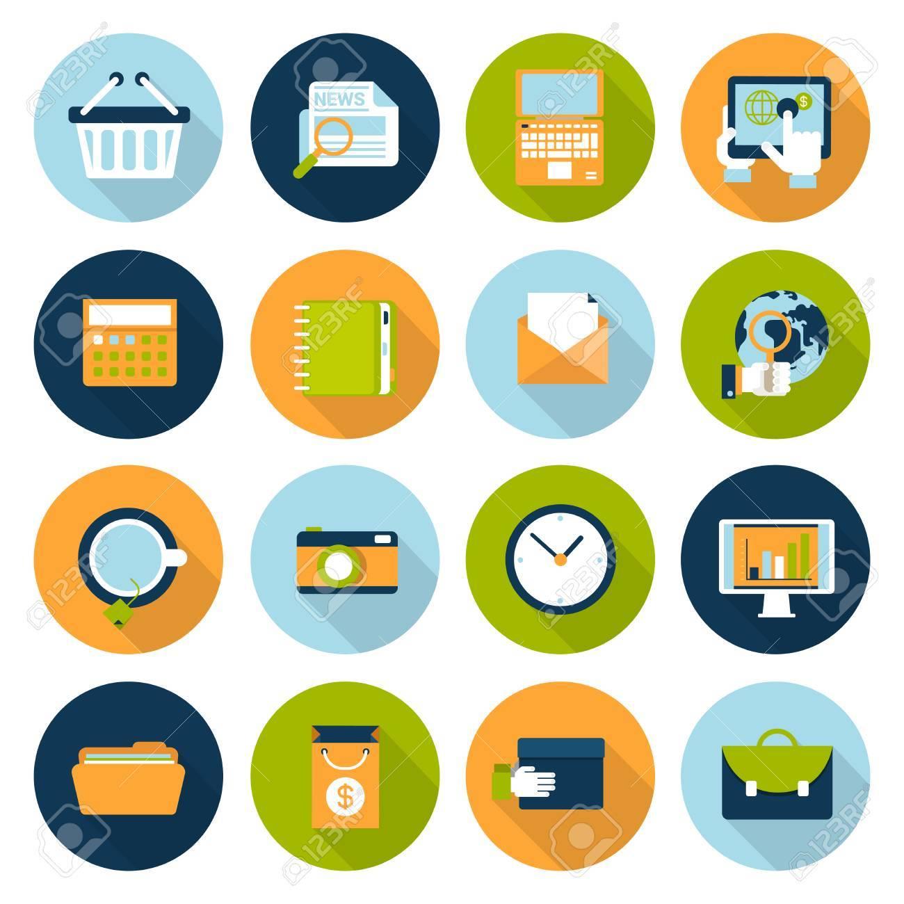 Flat web infographics icon set online business e commerce flat web infographics icon set online business e commerce technology internet altavistaventures Image collections