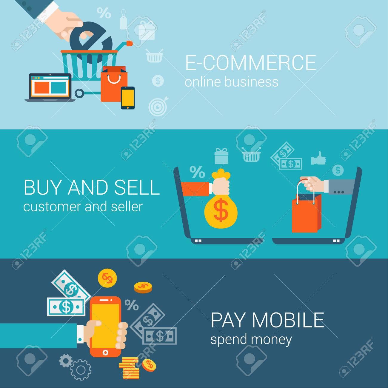 Wohnung Stil Mobile Online E Commerce Kaufen Zahlen Infografik