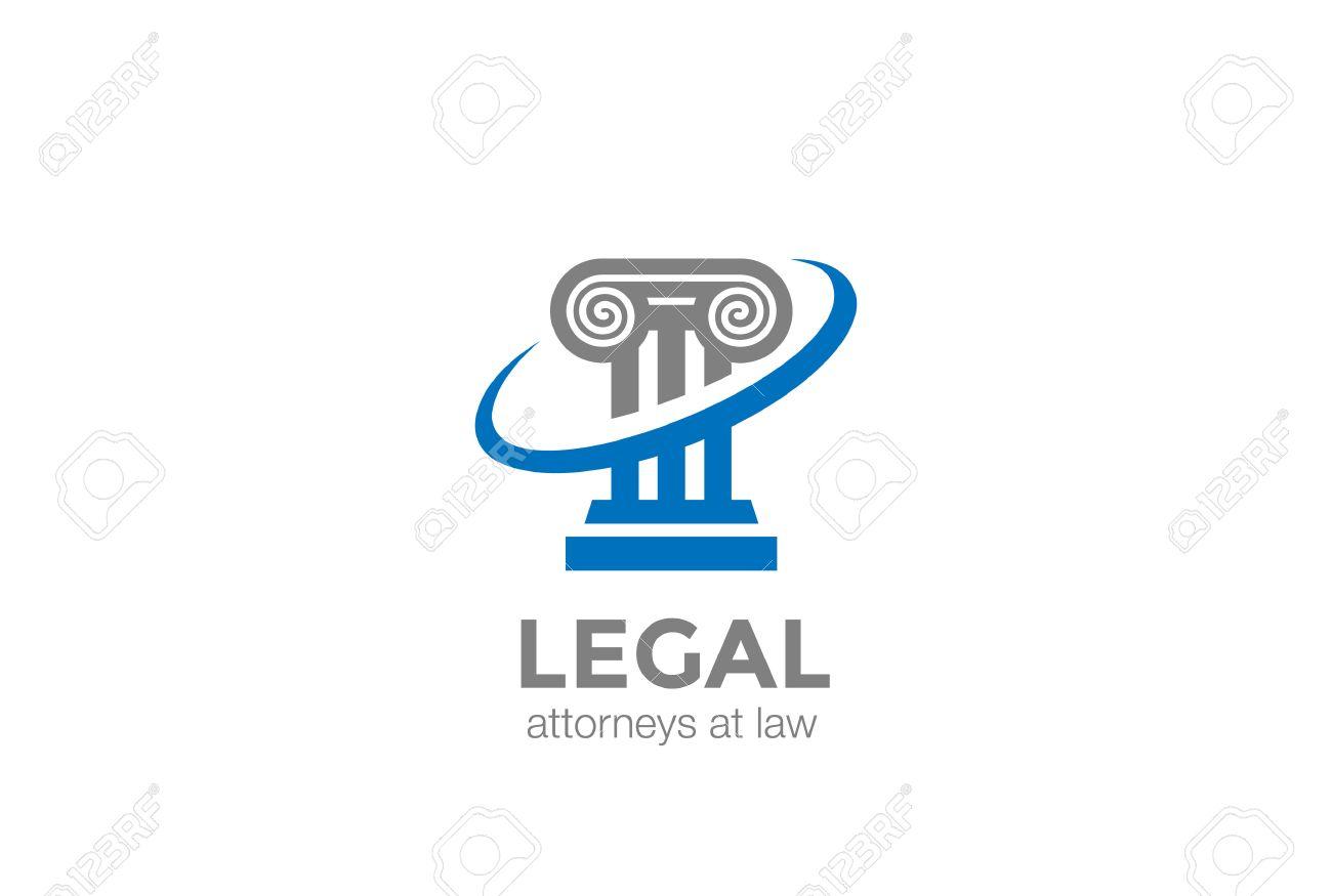 Pillar Lawyer Law Firm Logo Design Column Symbol Vector Design ...