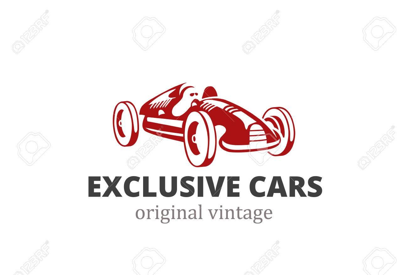 Racing Retro Car Logo Abstract Design Vector Template. Vintage ...