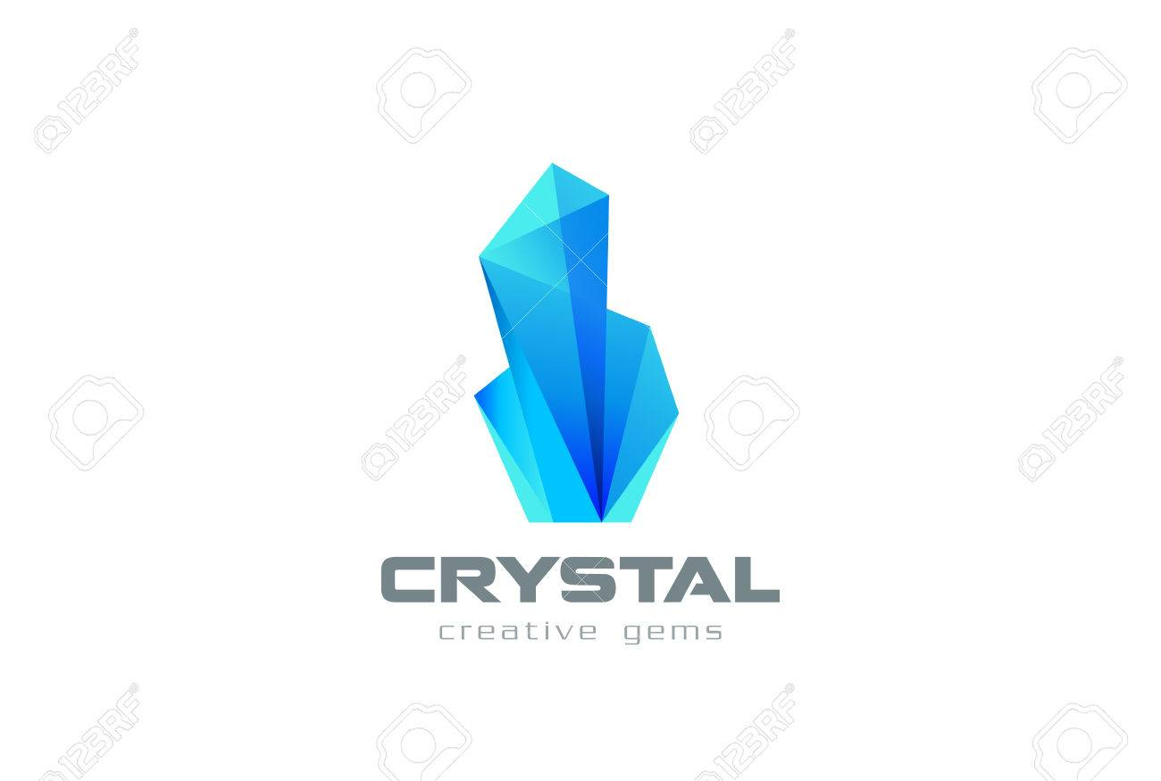 crystal gems logo abstract design vector template creative
