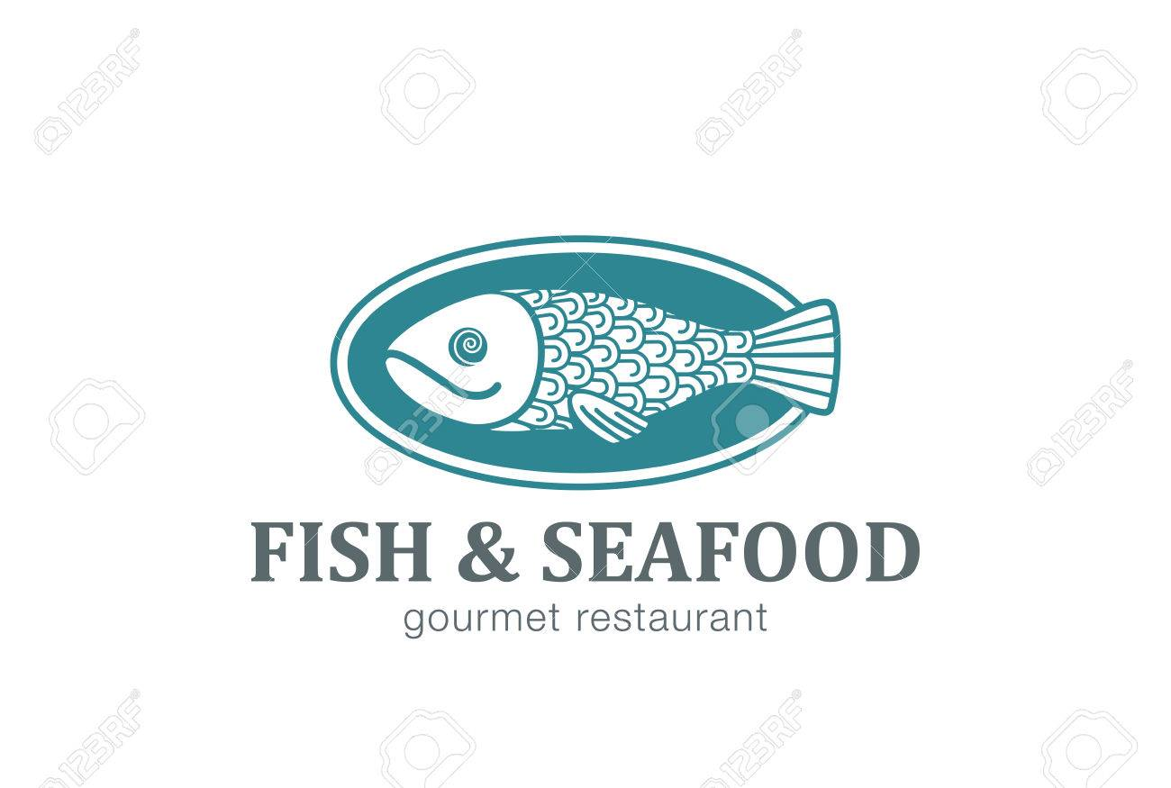 Fish On Dish Seafood Restaurant Logo Design Vector Template Creative Royalty Free Cliparts Vectors And Stock Illustration Image 52804965