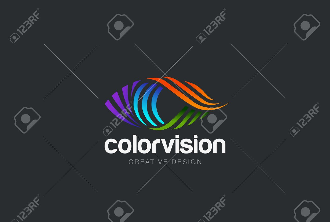 Eye design vector template. Colorful media icon. Vision concept idea. - 52809138
