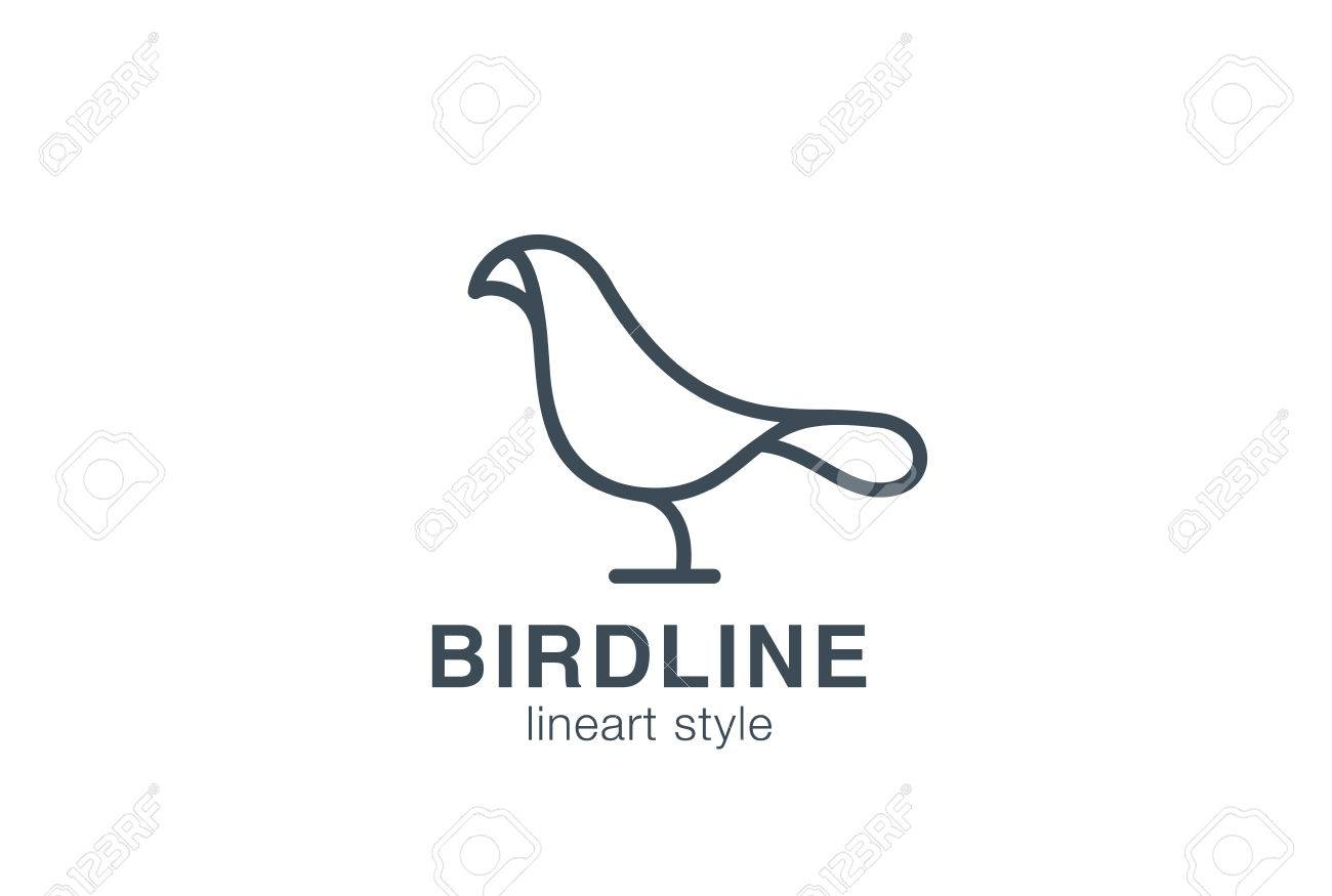 Abstract bird logo design vector template linear style creative abstract bird logo design vector template linear style creative dove logotype business technology concept symbol pronofoot35fo Images