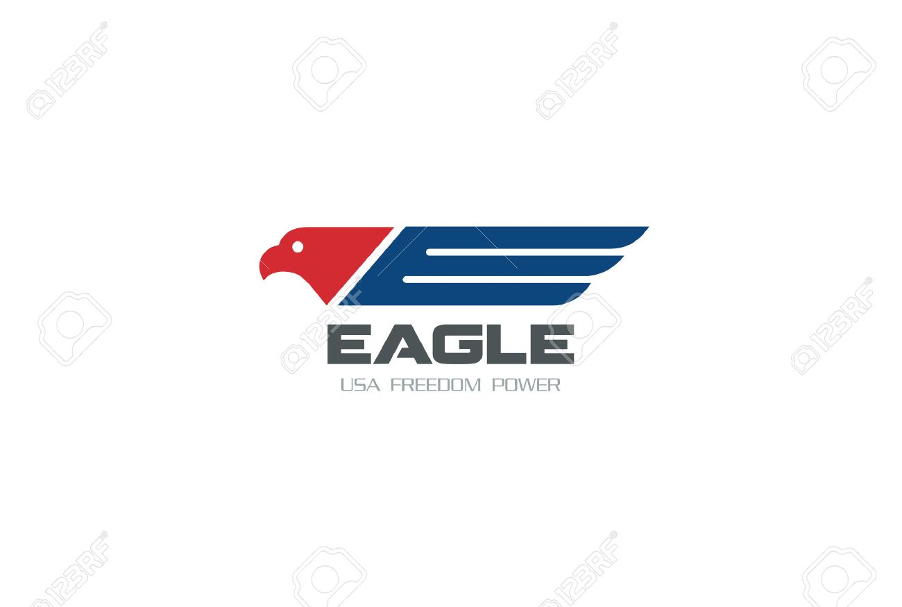 American Eagle Symbol Of Freedom Democracy Logo Design Vector Royalty Free Cliparts Vectors And Stock Illustration Image 52812354