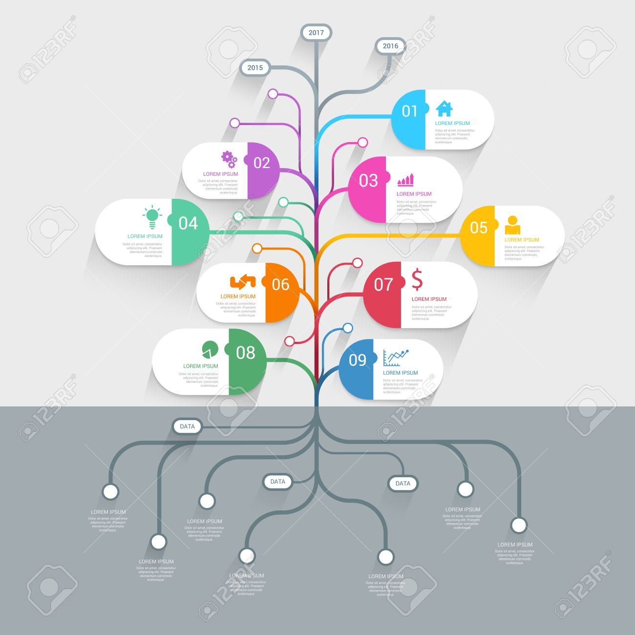 Stylish tree timeline process history mindmap business infographics stylish tree timeline process history mindmap business infographics template mockup web site infographic background concepts cheaphphosting Image collections