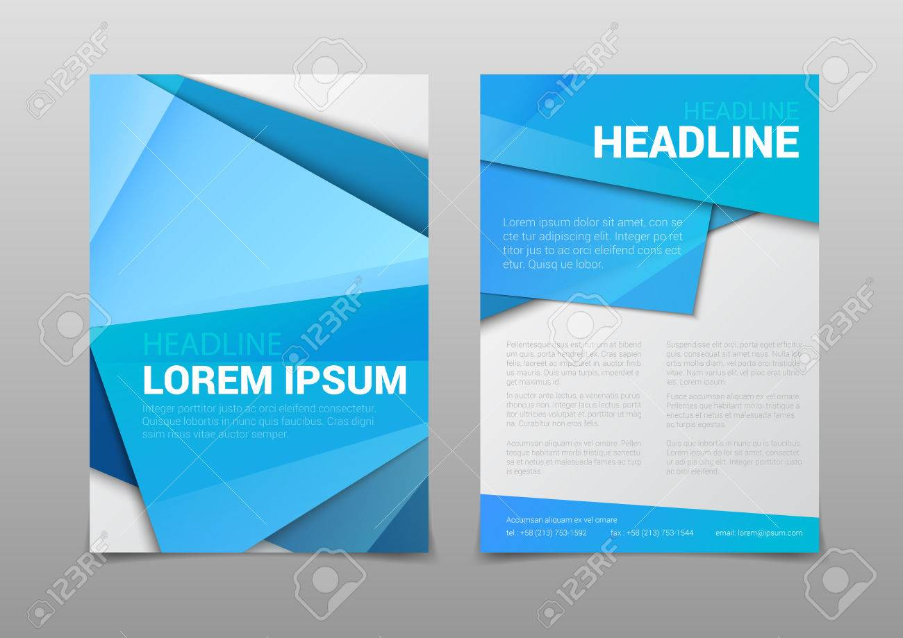 stylish modern blue color polygonal attractive cover headline stylish modern blue color polygonal attractive cover headline corporate company business document report brochure mockup template