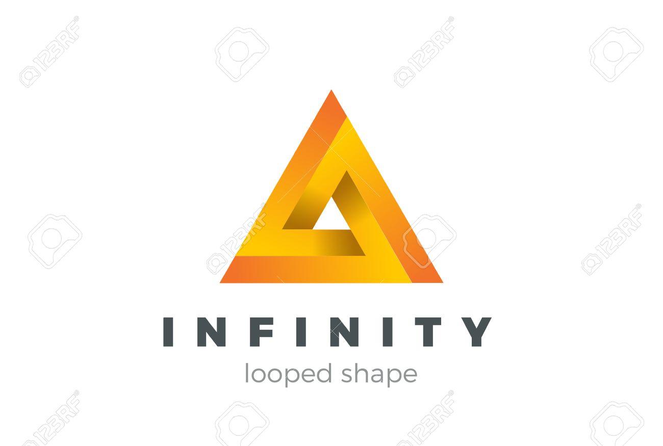 Triangle infinity looped geometric shape logo design vector template triangle infinity looped geometric shape logo design vector template business technology impossible infinite loop symbol wajeb Images