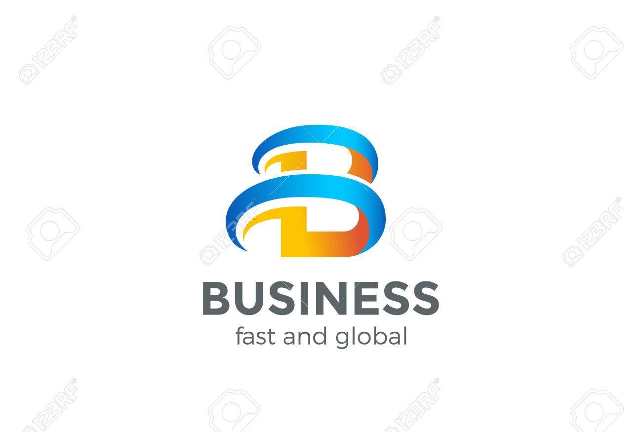 B Logo b logo letter abstract design vector template. creative symbol