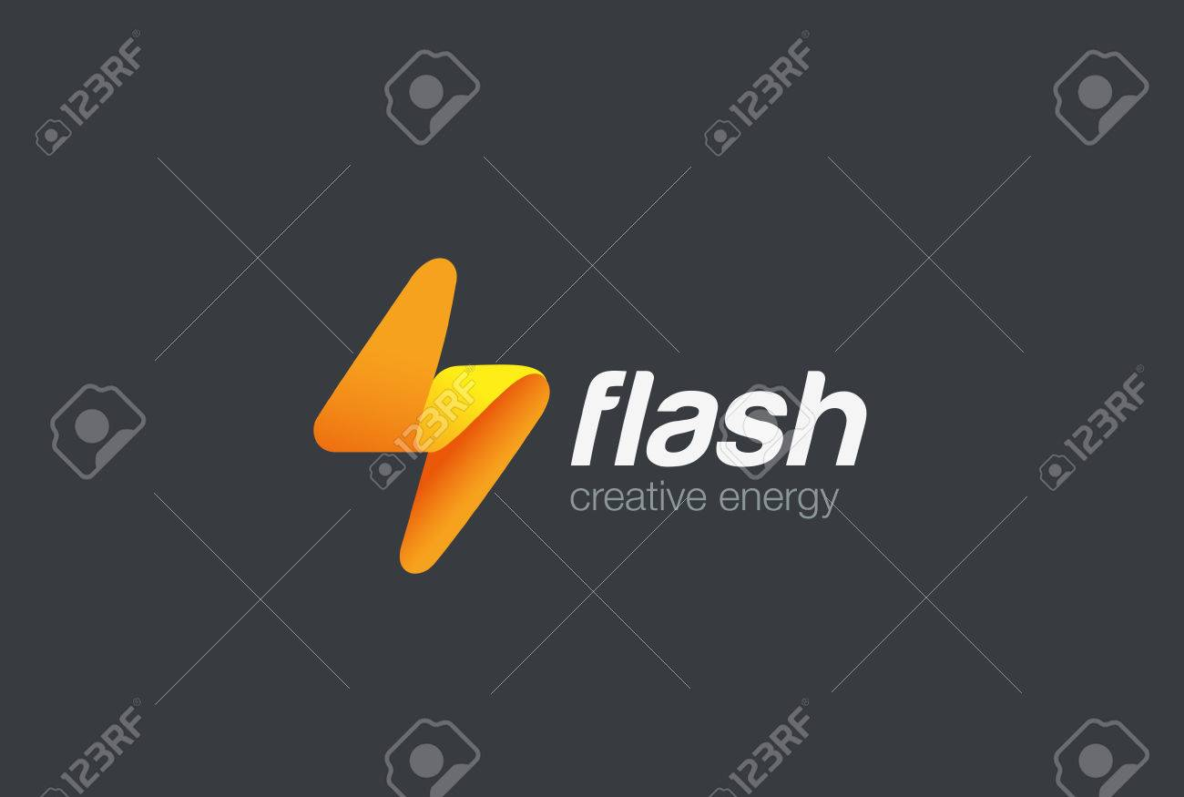 Flash logo abstract design vector template lighting bolt logotype