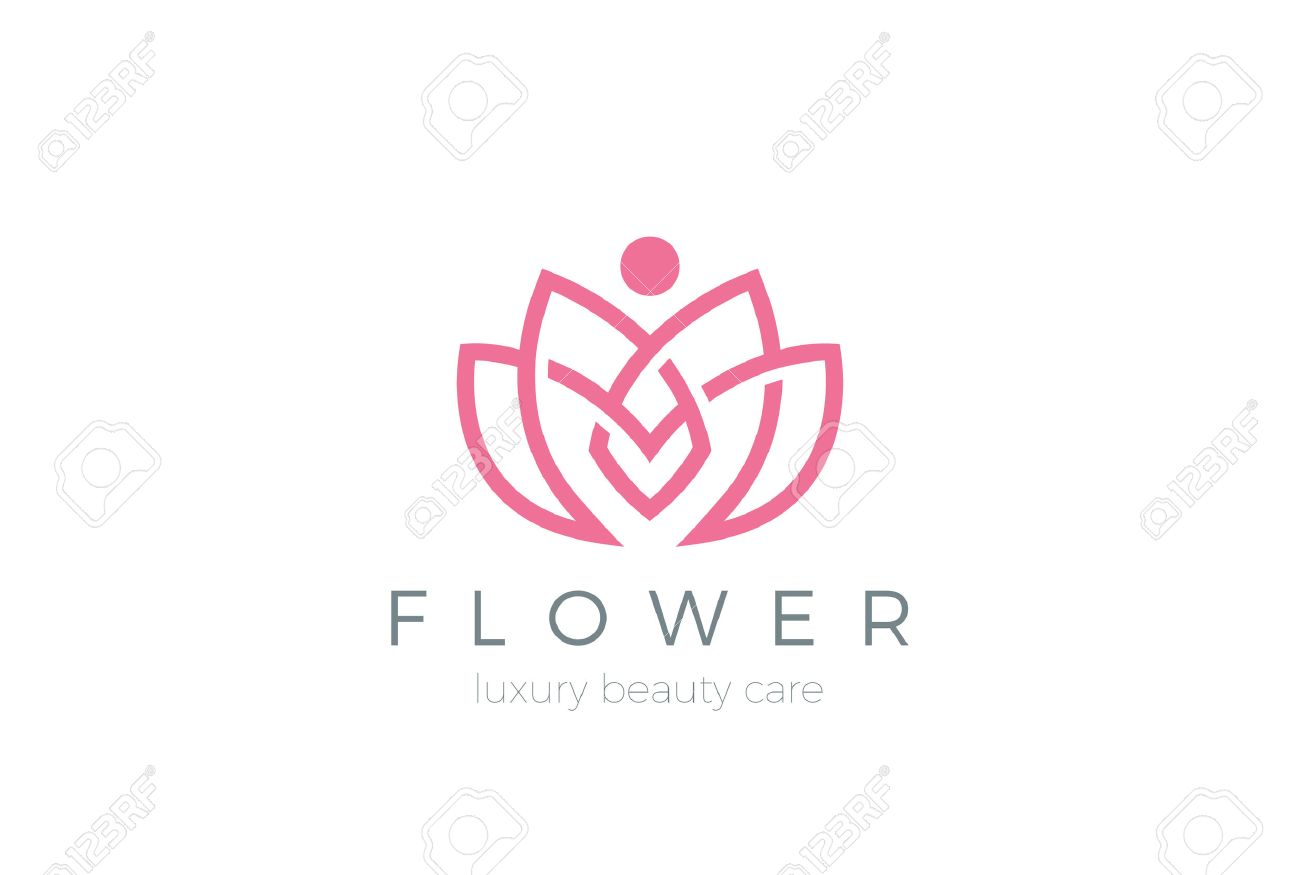 Lotus Flower Logo Abstract Beauty Spa Salon Cosmetics Royalty Free
