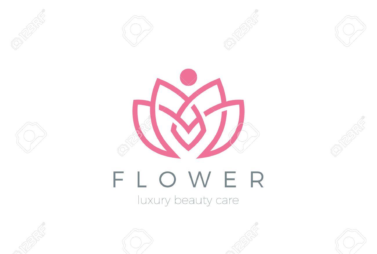 Lotus Flower Logo abstract Beauty Spa salon Cosmetics - 57374594