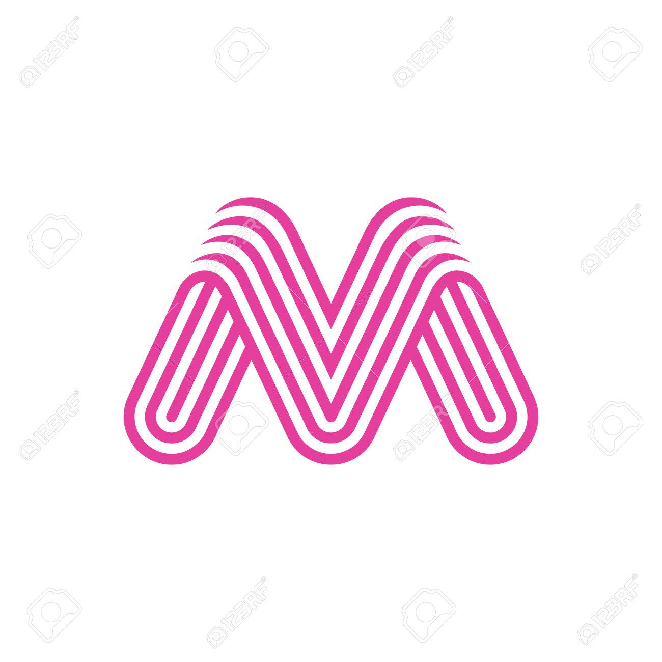dcea64ed340 Creative Letter M Logo design vector template Linear. Type Character Symbol  Logotype Stock Vector -