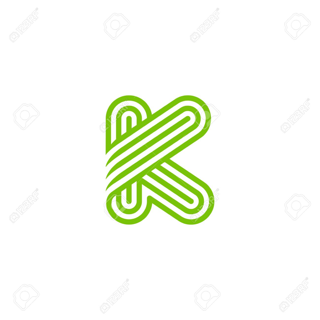 Creative Letter K Logo Design Vector Template Linear Type Character