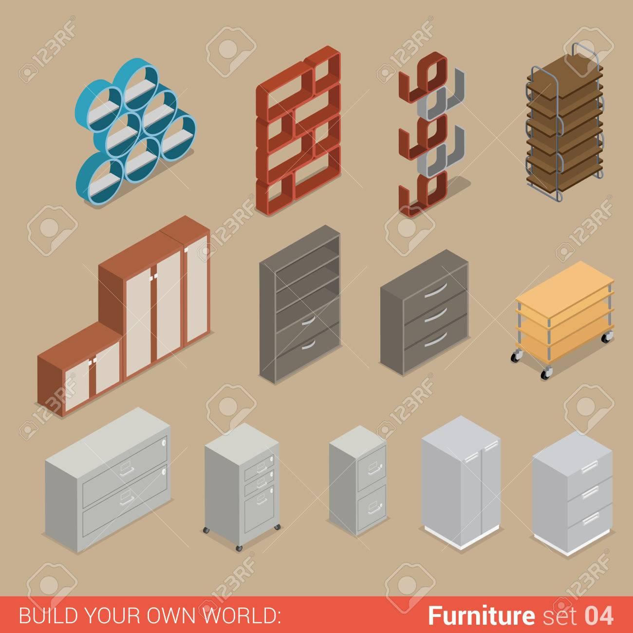 Office Furniture Set 04 Cupboard Folder Book Shelf Storage Closet