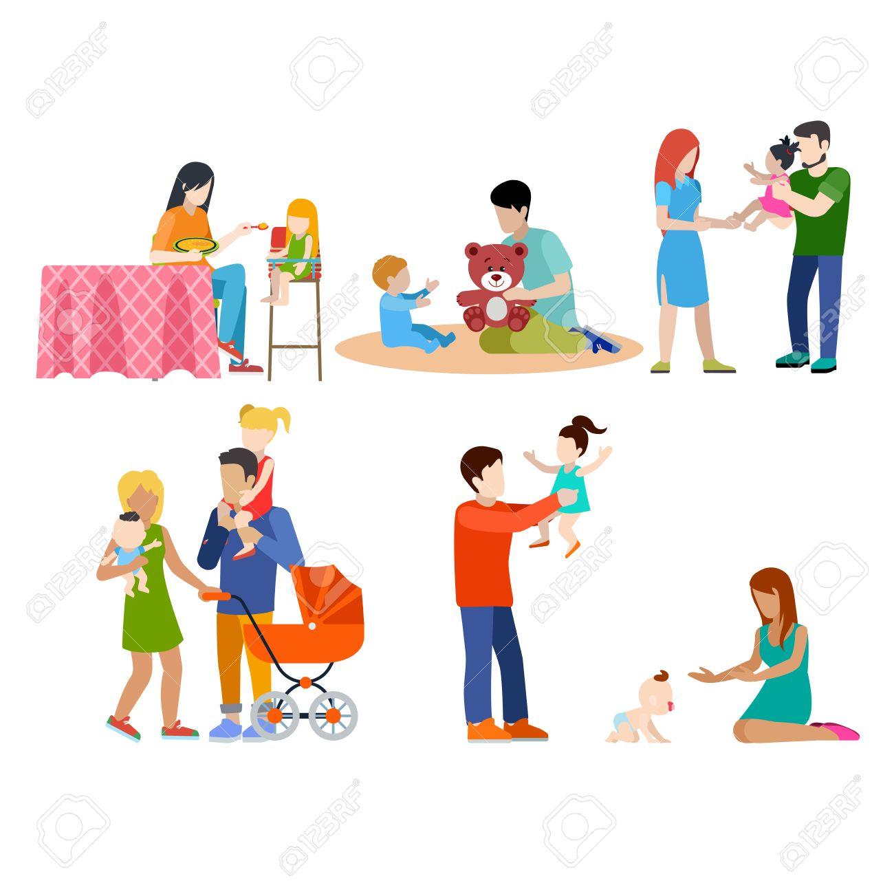 enfermería de la familia de cuidado de niños pequeños gente padres