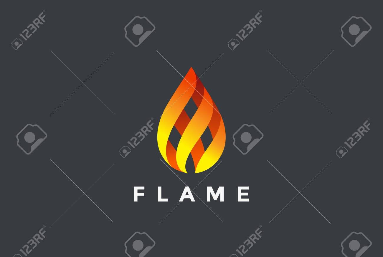 fire flame droplet design vector template burning inferno fireball