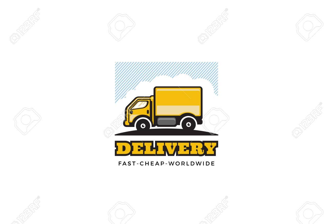 b9b4468f20 Delivery Truck design vector template. Cargo car concept illustration.  Stock Vector - 62209100