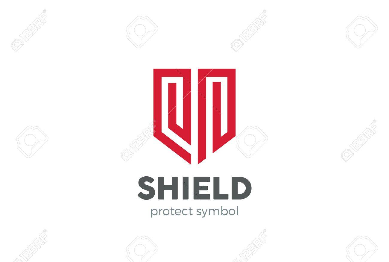 Shield Logo design vector template. Protection defense symbol. Law Legal security guard company Logotype. Lawyer Advocate concept icon. - 63745938