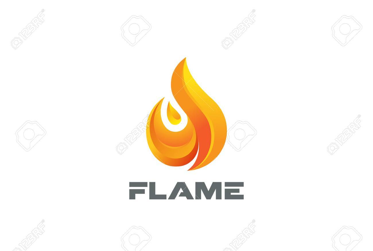 Fire Flame Logo Design Vector Template Royalty Free Cliparts ...