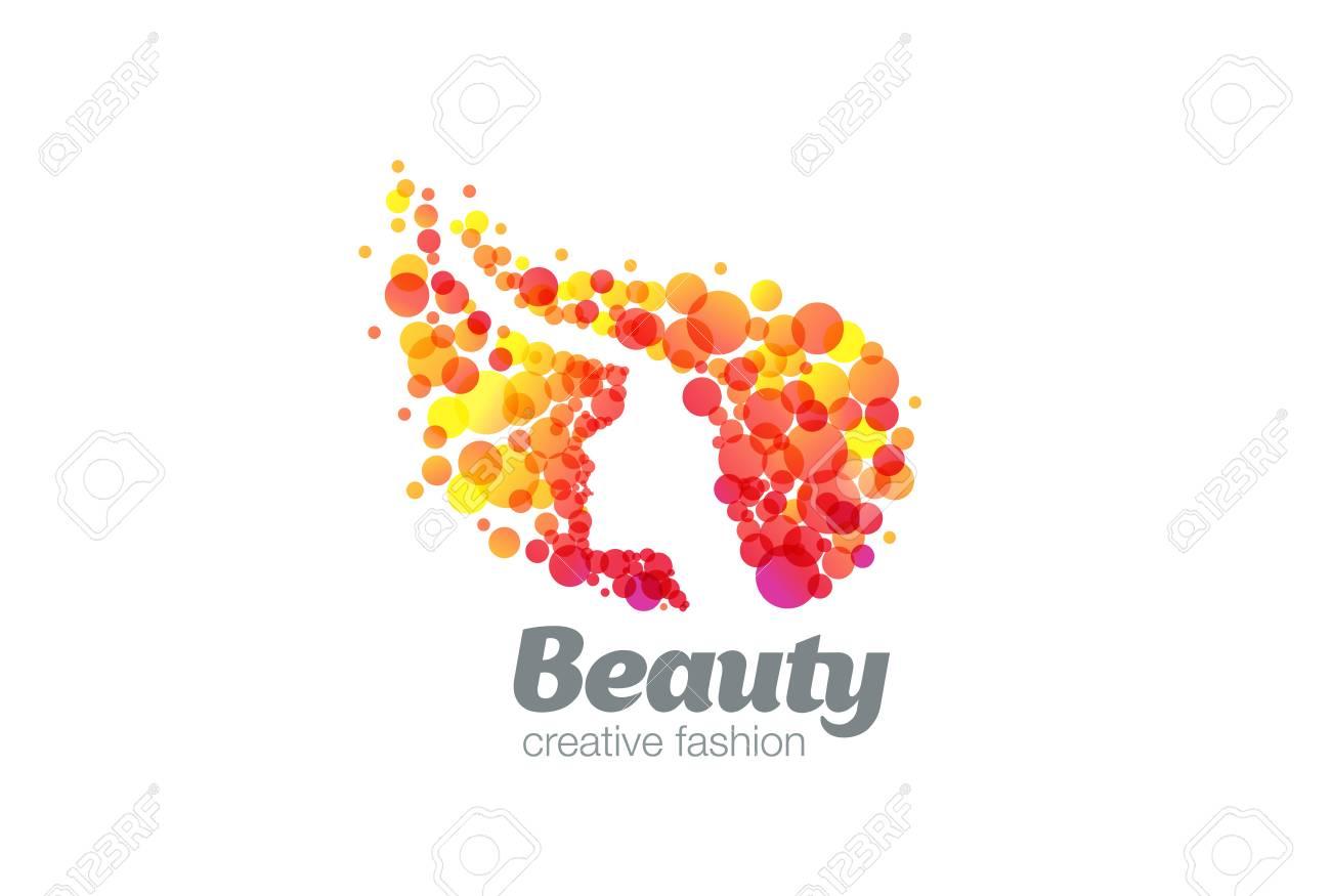 Woman Silhouette Logo Design Vector Template Negative Space Beauty