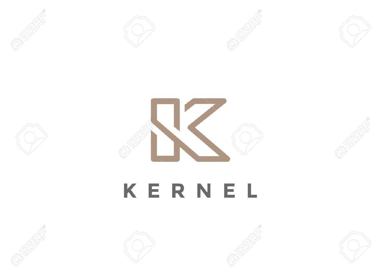 Letter K Logo Monogram design vector template Linear style. Corporate Business Luxury Fashion Logotype concept symbol - 67961499